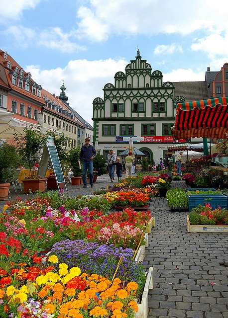 Weimar's Market Square Germany
